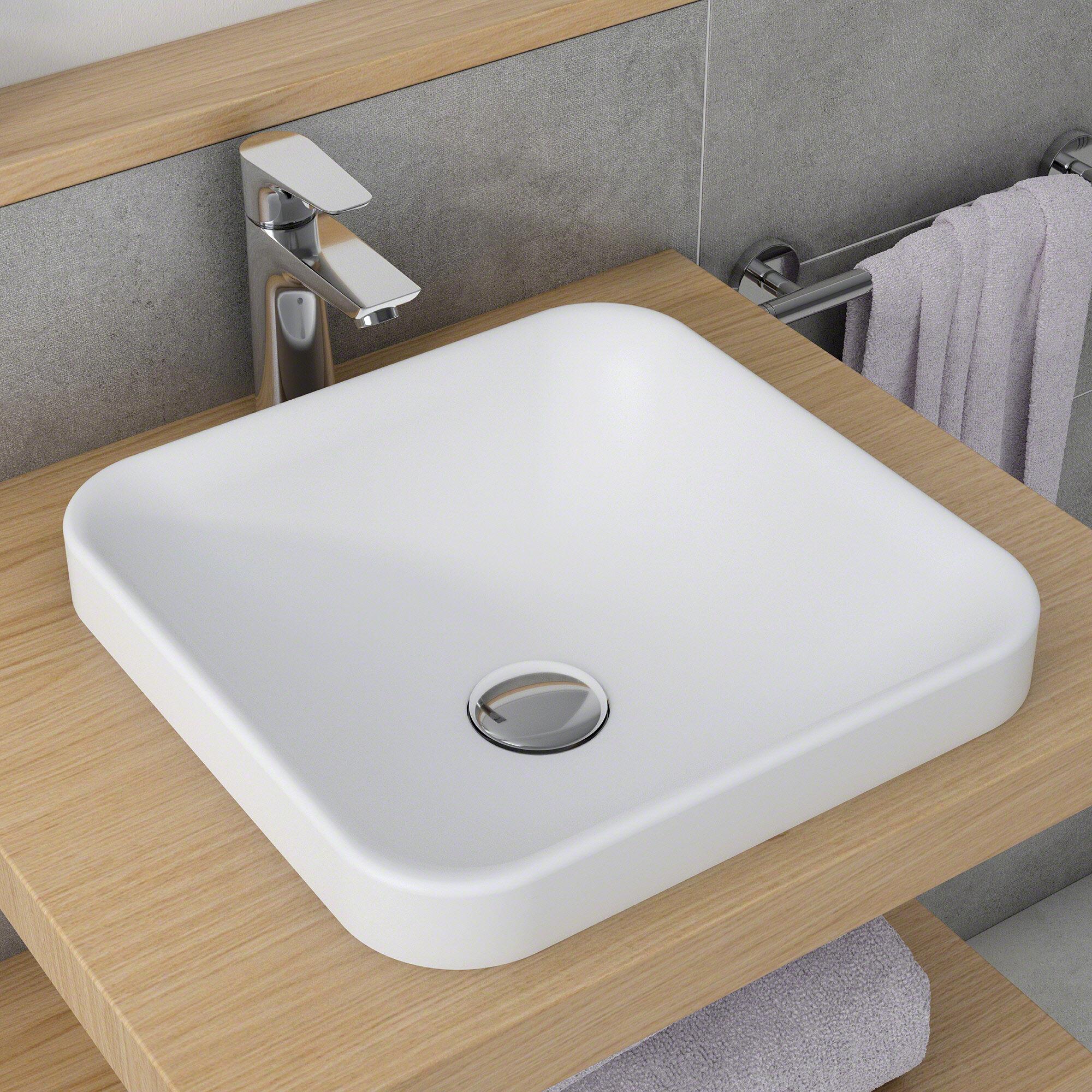 Kraus Natura™ Square Vessel Bathroom Sink | Wayfair