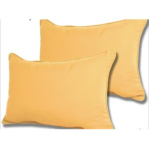 Wyckoff Reversible Outdoor Lumbar Pillow (Set of 2)