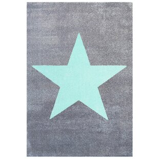 Star Grey/Turquoise Rug by Livone