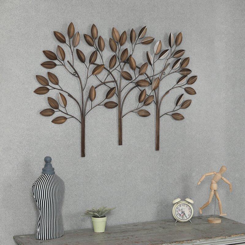 Winston Porter Metal Trees Wall Décor   Wayfair