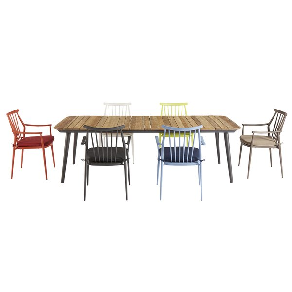 Asphod Le Outdoor Recycle 7 Piece Teak Dining Set
