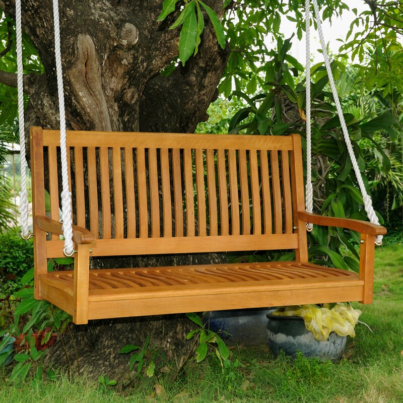 Charming Bench Swing Part - 2: Portland Wood Porch Swing