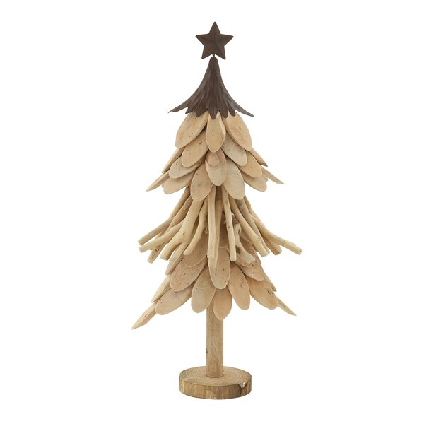 cole grey wood and metal xmas tree reviews wayfair - Metal Christmas Tree