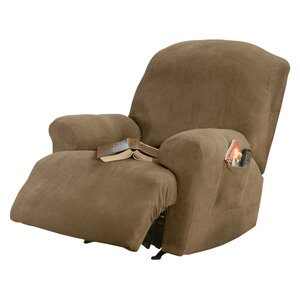 Stretch Pique T-Cushion Recliner Slipcover