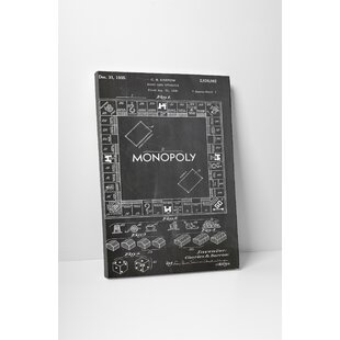 Monopoly wall art wayfair patent prints monopoly board graphic art on wrapped canvas malvernweather Image collections