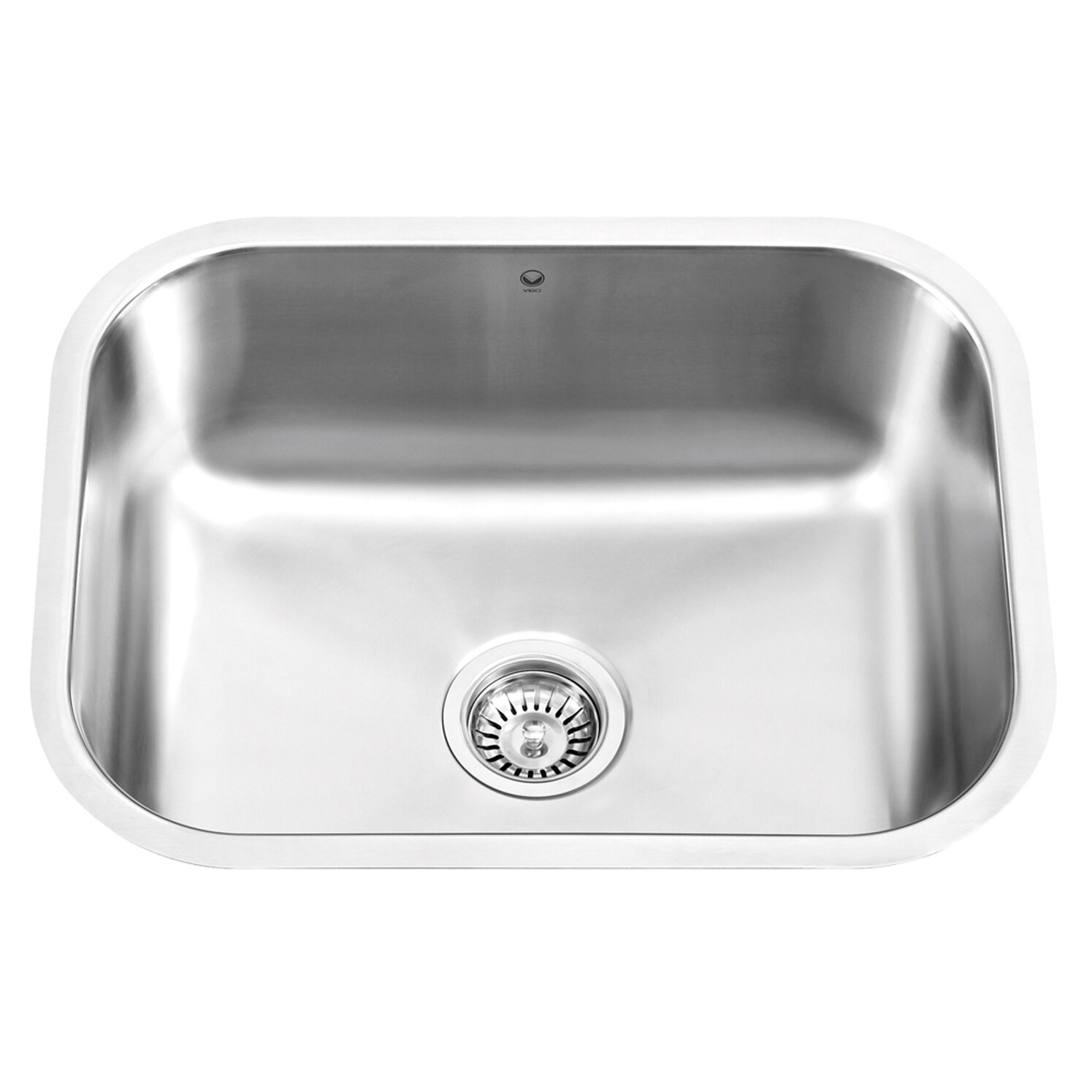 23 inch undermount single bowl 18 gauge stainless steel kitchen sink - Stainless Steel Kitchen Sink Gauge