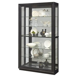 Albrightsville Lighted Corner Curio Cabinet by Darby Home Co
