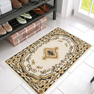 Aldenport Medallion Power Loom Ivory Indoor Area Rug