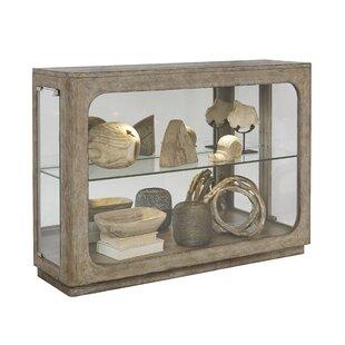 Aaru Lighted Console Curio Cabinet