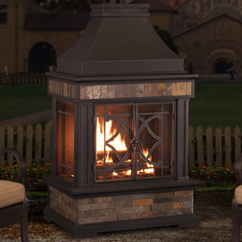 Perfect Heirloom Steel Wood Burning Outdoor Fireplace
