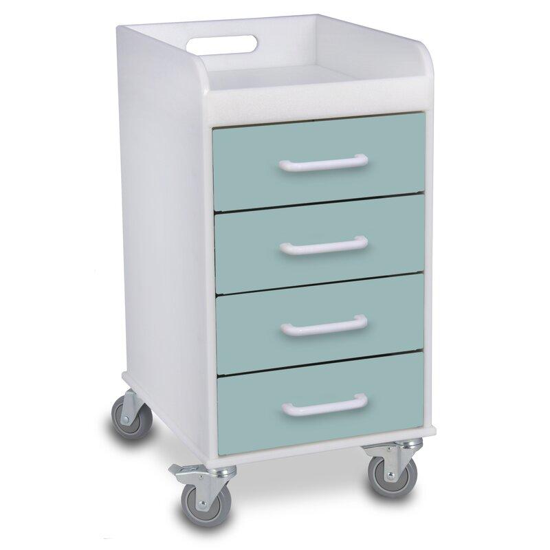 Exceptionnel 4 Drawer File Storage Cart