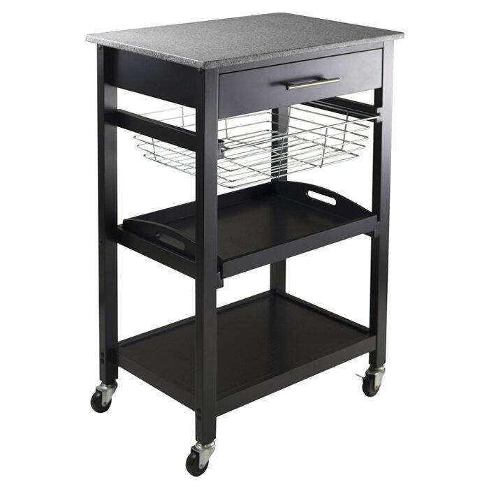 Beau Winsome Julia Kitchen Cart With Granite Top U0026 Reviews | Wayfair