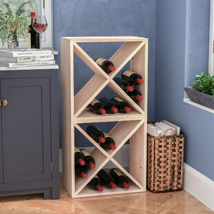 Karnes Pine X-Cube 48 Bottle Floor Wine Rack