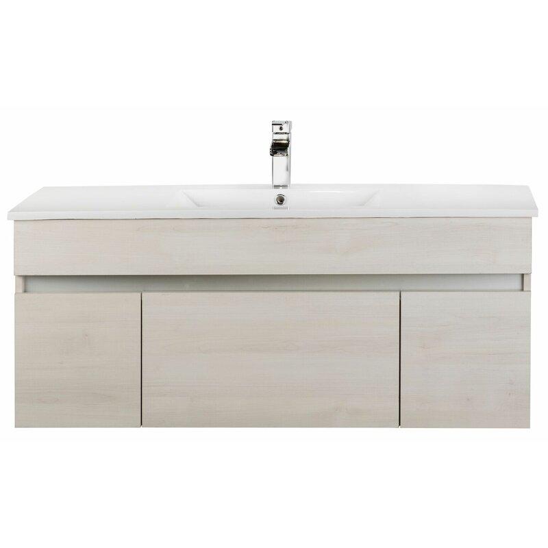 Cutler Kitchen Amp Bath Ivory Floating 48 Quot Single Bathroom
