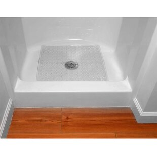 Evelots Square Shower Mat Large Drain Hole Non Slip Super Thick 164 Suction Cups