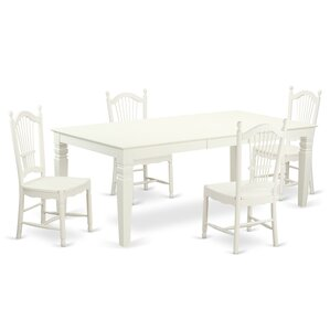Logan 5 Piece Dining Set by East West Furniture