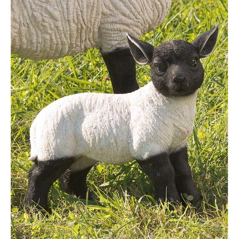 Plow Amp Hearth Suffolk Sheep Standing Lamb Resin Garden