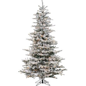 pre lit 85 white spruce trees artificial christmas tree with 750 clear - White Christmas Tree