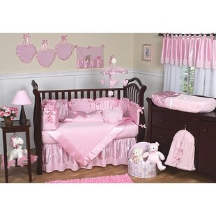 Pink Chenille 9 Piece Crib Bedding Set