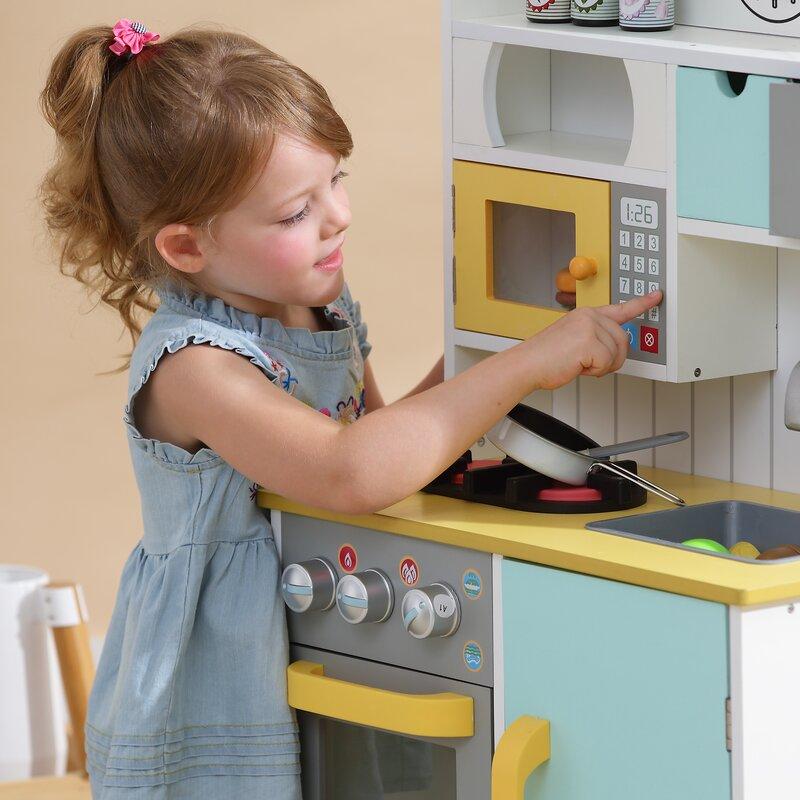 3a0cdb8865e Teamson Kids 5 Piece Little Chef Wooden Play Kitchen Set   Reviews ...