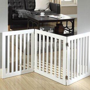 wooden pet gate diy blocker freestanding wooden pet gate wayfair