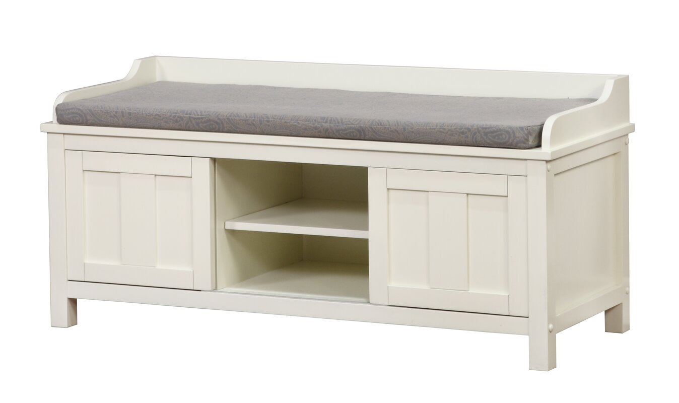 Beachcrest Home Gainsborough Wood Storage Bench & Reviews