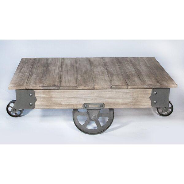 Marvelous REZFurniture Vintage Center Coffee Table With Wheels U0026 Reviews | Wayfair