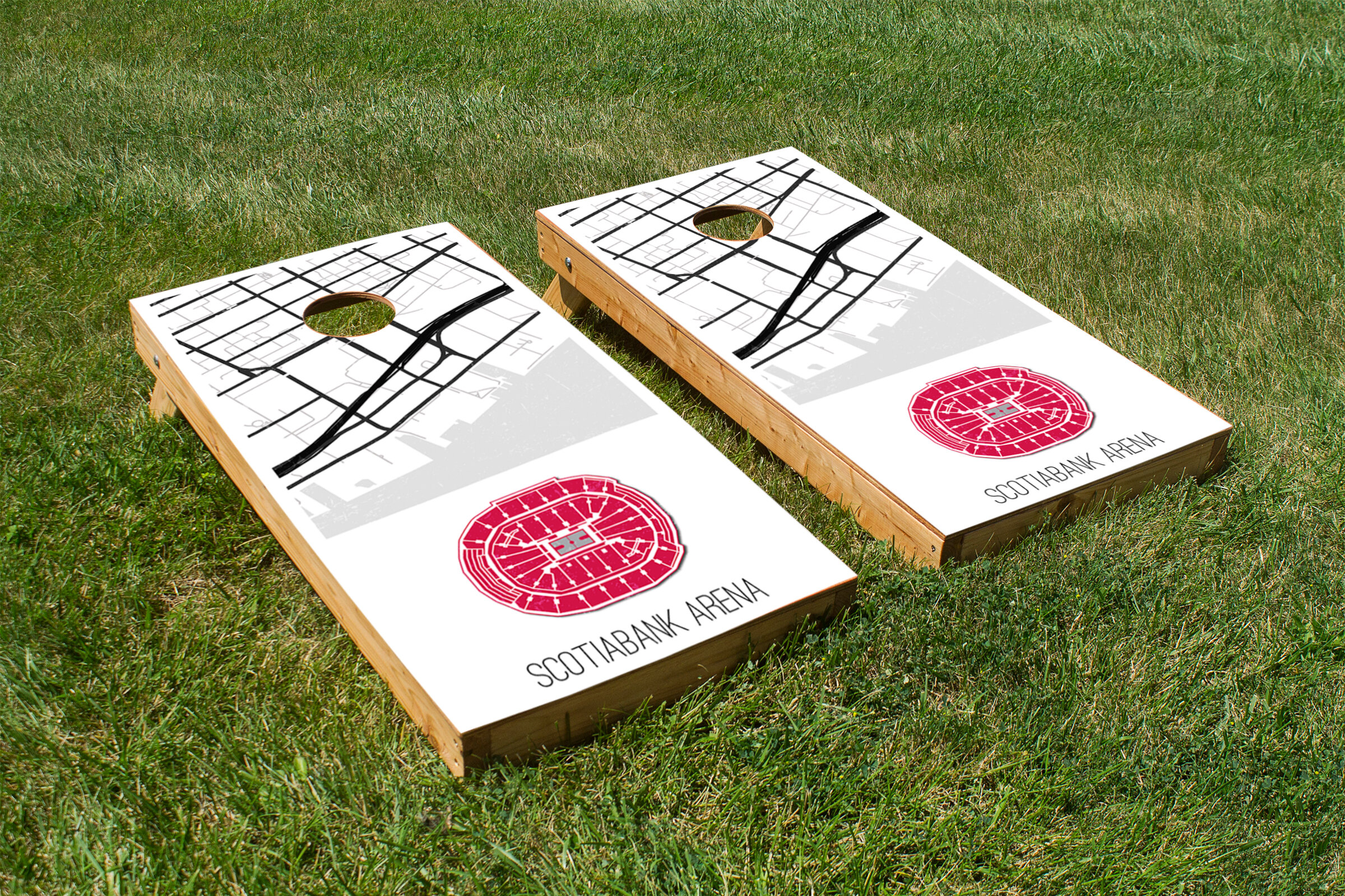Excellent 2 X 4 Scotiabank Arena Solid Wood And Vinyl Cornhole Board Short Links Chair Design For Home Short Linksinfo