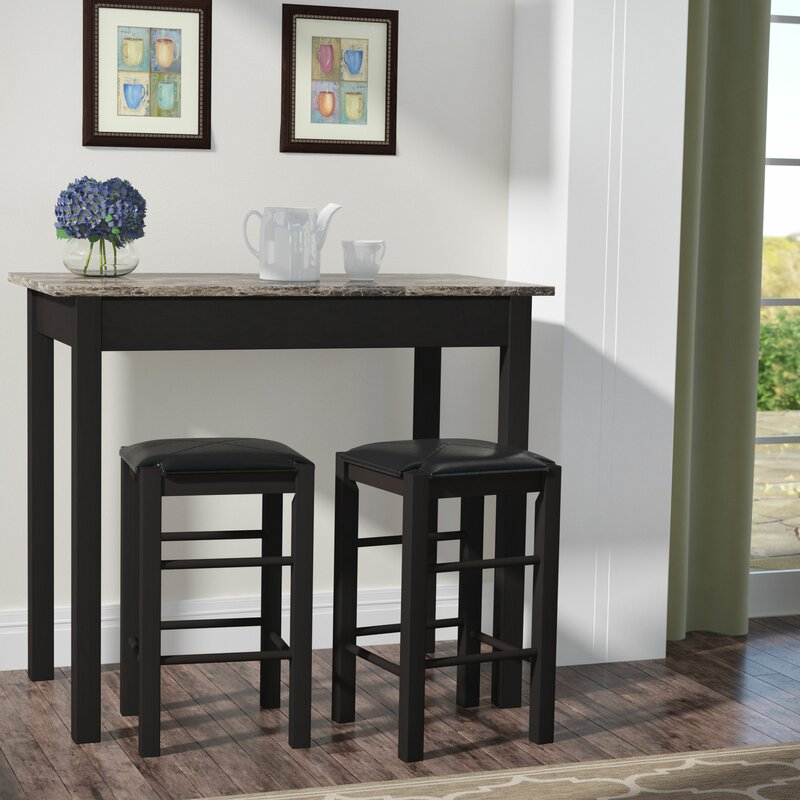 Balboa Counter Height Table Stool 3 Piece Dining Set: Prosser 3 Piece Counter Height Dining Set & Reviews