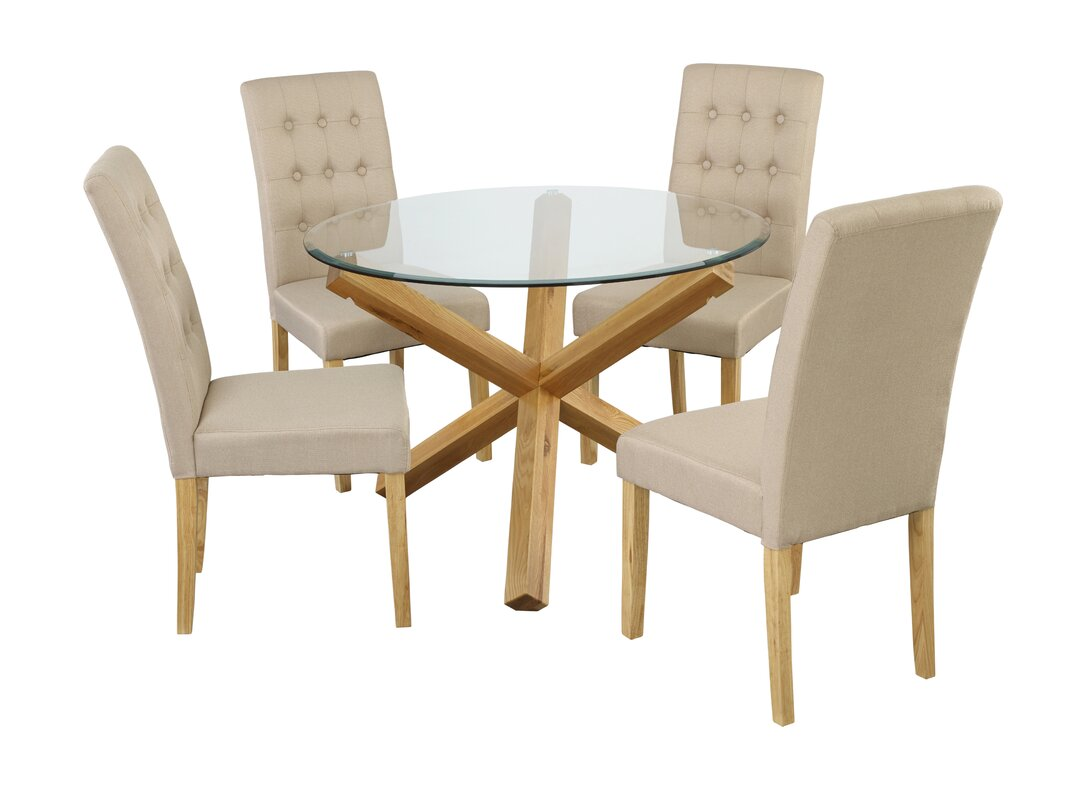 Riley Ave. Oporto Dining Table With 4 Chairs & Reviews