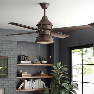 Industrial Style Ceiling Fans Youu0027ll Love | Wayfair