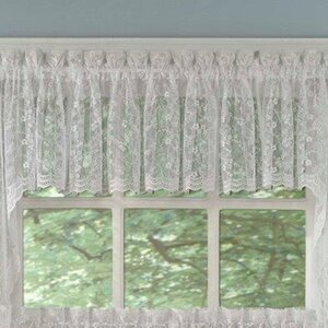 Priscilla Lace Tailored Curtain Valance