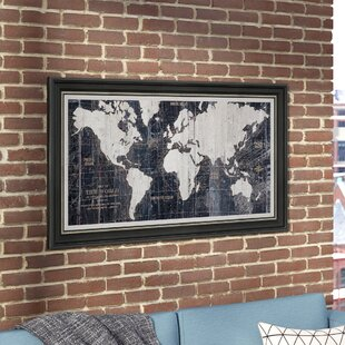 Framed Old World Map Wayfair