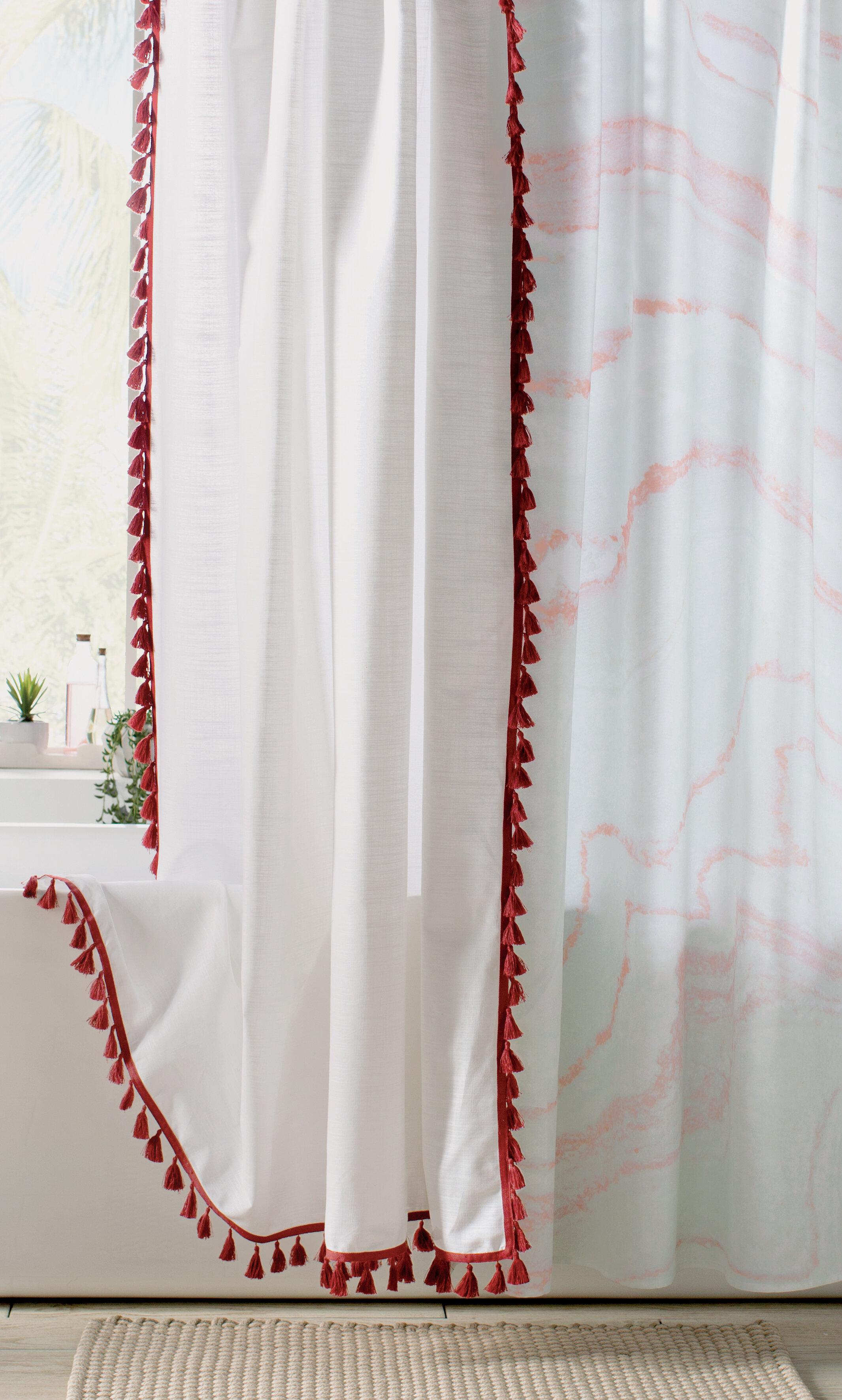 Eider Ivory Angelia 100 Cotton Tassel Shower Curtain Reviews