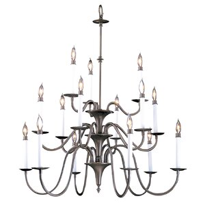 Early american chandelier wayfair early american 15 light candle style chandelier mozeypictures Image collections