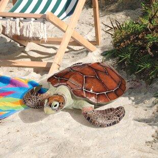 Flat Back Sea Turtle Statue Set Of 2