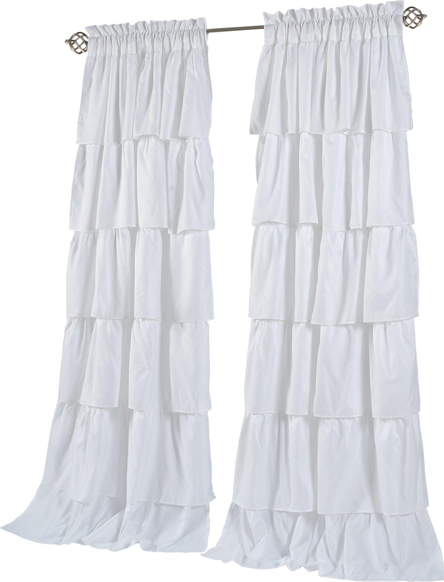 custom white ruffle curtains panel pure make curtain