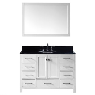 Vanity art phoenix stone 48 single bathroom vanity with for Bathroom vanity stores virginia beach
