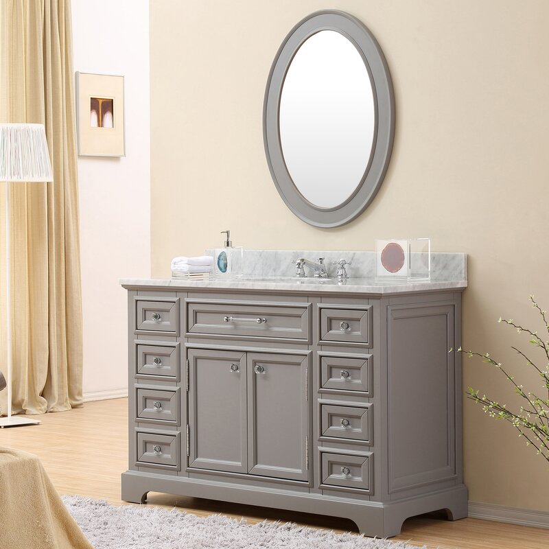 48 vanity with sink. Bergin 48  Single Sink Bathroom Vanity Set Three Posts Reviews
