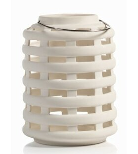 Briza 8.25 Inch Tall Ceramic Lantern