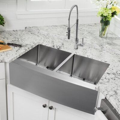 drop in apron front sink wayfair. Black Bedroom Furniture Sets. Home Design Ideas