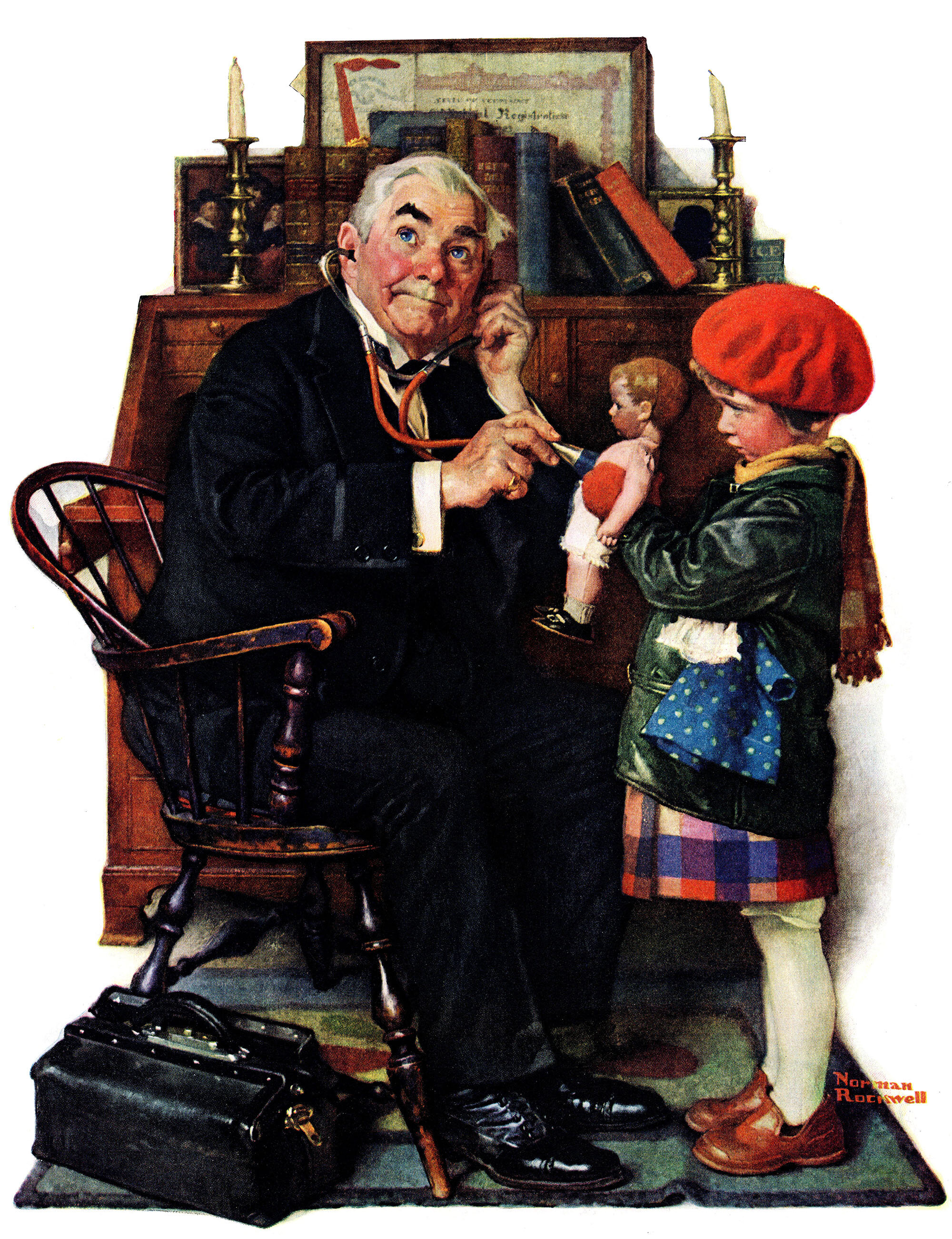 Marmont Hill \'Doctor And The Doll\' by Norman Rockwell Painting Print ...