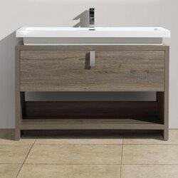 "Modern Bathroom Vanity Sets kube bath levi 39.5"" single modern bathroom vanity set & reviews"