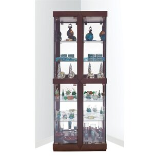 Catchings Lighted Corner Curio Cabinet