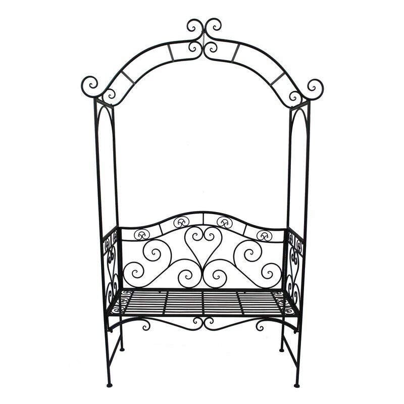 garten living 2 sitzer rosenbogen mit bank aus metall bewertungen. Black Bedroom Furniture Sets. Home Design Ideas