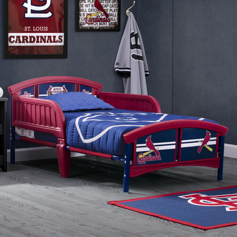 Delta Children Mlb St Louis Cardinals Convertible Toddler Bed Wayfair