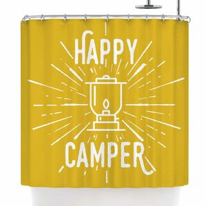 Jackie Rose Happy Camper Shower Curtain