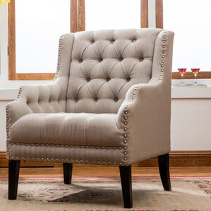 Denim Wing back Chair by Best Quality Furniture