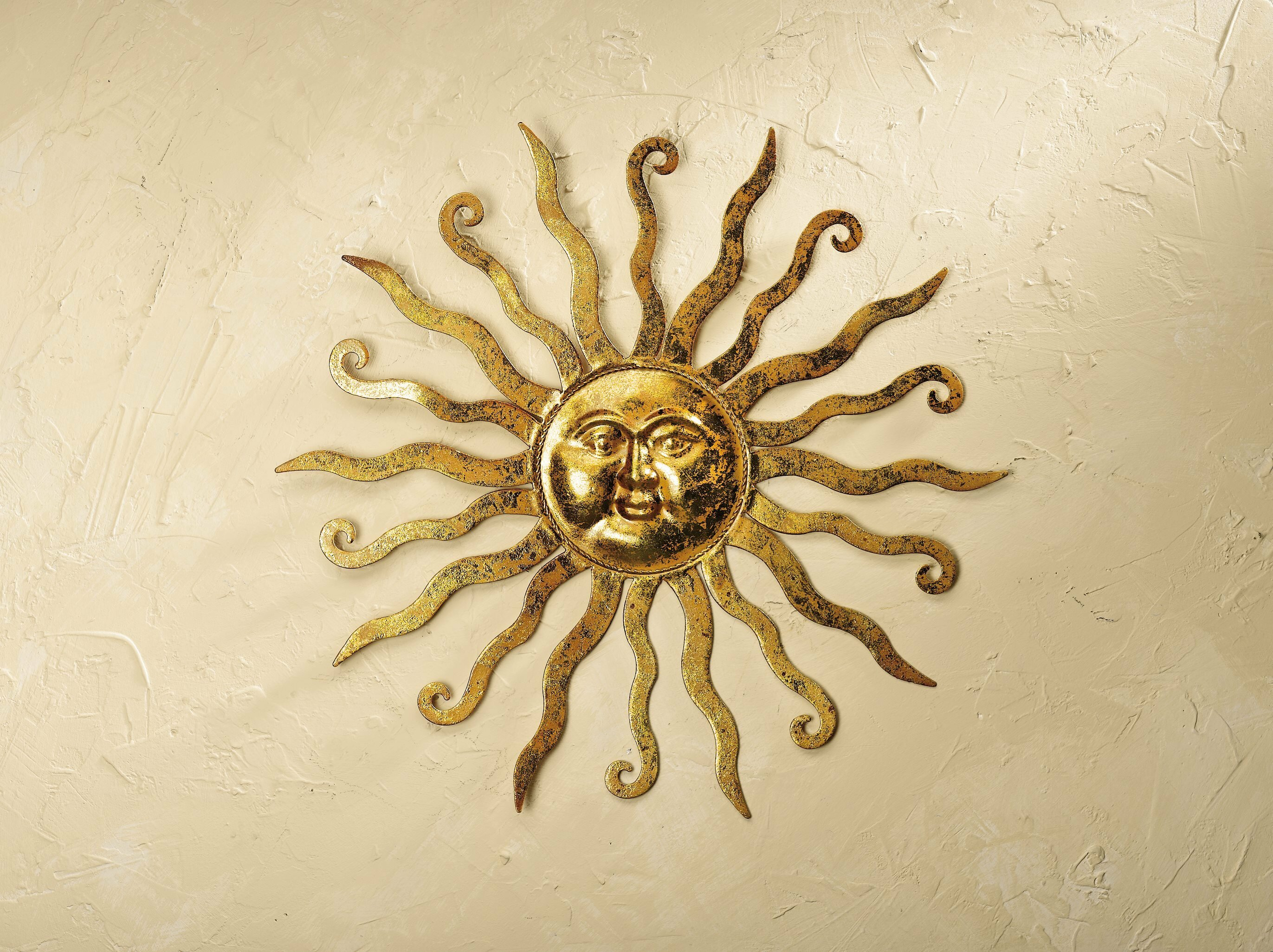 Plow & Hearth Shimmering Metal Sun Wall Décor & Reviews | Wayfair