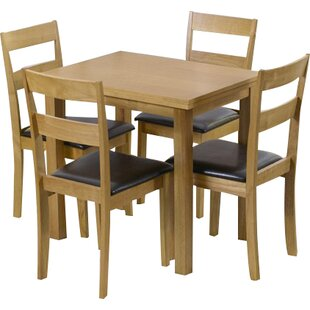 Bardwell Extendable Dining Set with 4 Chairs by Beachcrest Home